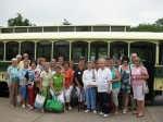 Our group of 25 started the day with the Hershey Trolley Works tour.